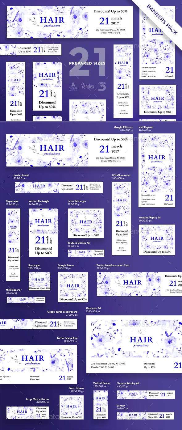 Hair Productions Banner Pack