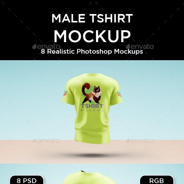 Male T-Shirt Mockup