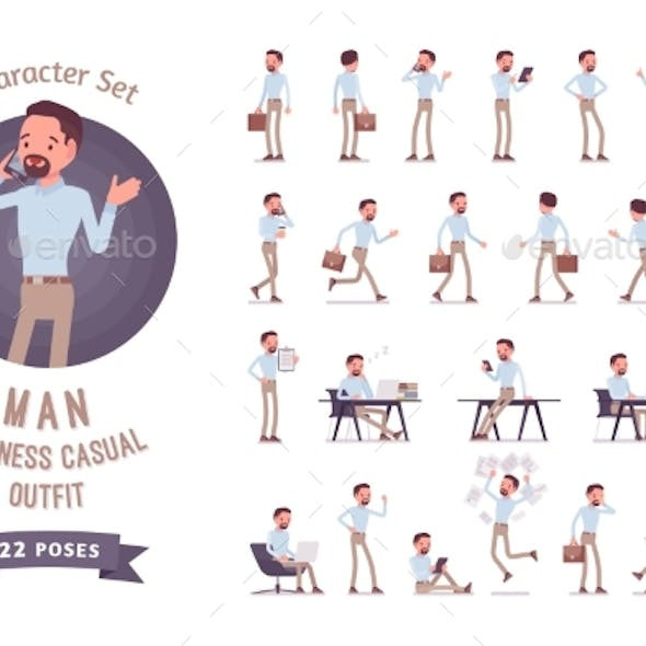 Smart Business Casual Man Ready-to-use Character
