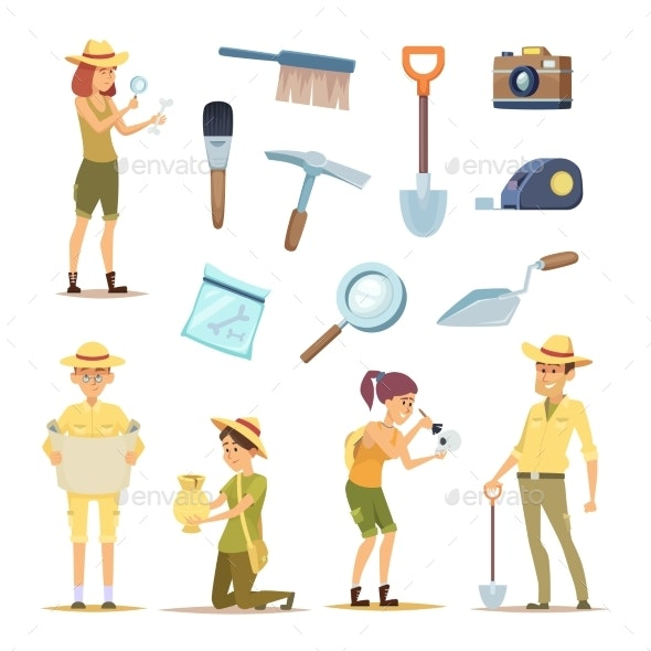 Archaeologists Characters and Various Historical - People Characters