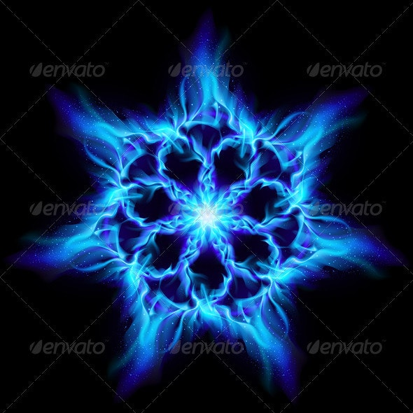 Blue Fire Flower By Dvarg Graphicriver