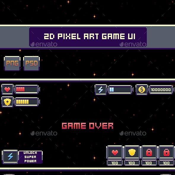2D Pixel Art Game UI