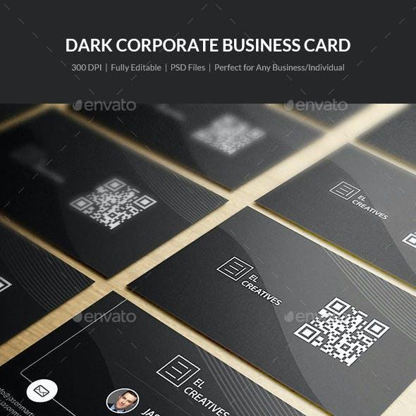 Dark Corporate Business Card - 16