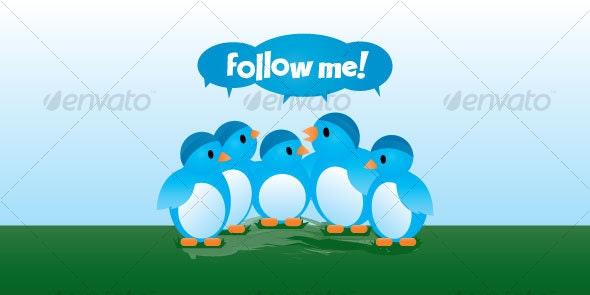 Twitter Birds - Animals Characters