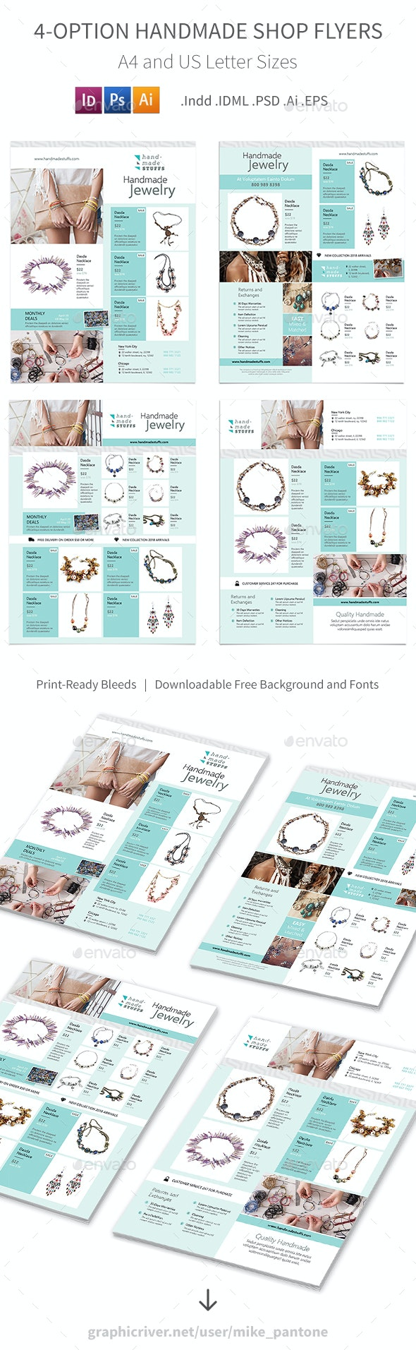Handmade Shop Flyers – 4 Options - Commerce Flyers