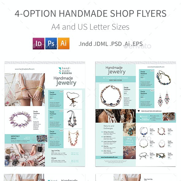 Handmade Shop Flyers – 4 Options