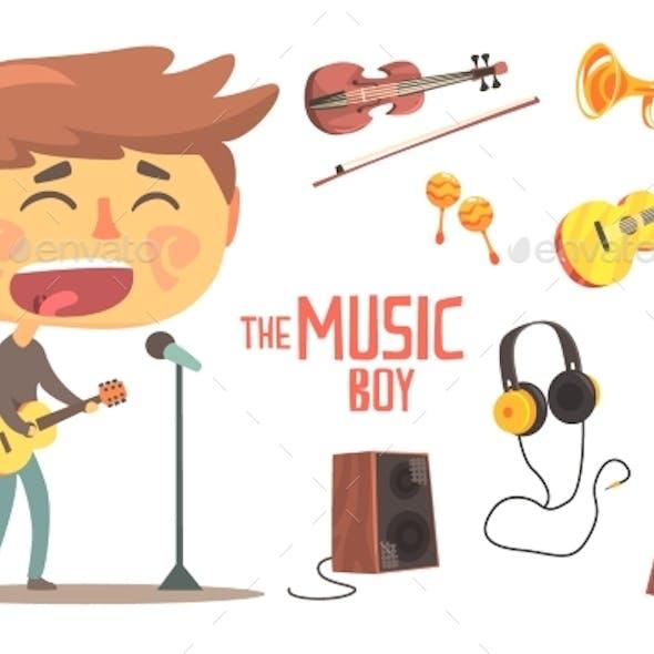Boy Singer and Musician Kids Future Dream