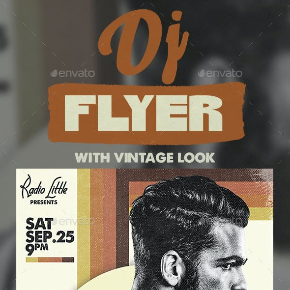 A3 Vintage Poster / Flyer Music Template