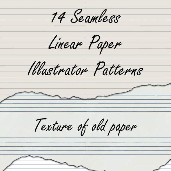 14 Linear and Checkered Shabby Paper Seamless Adobe Illustrator Patterns