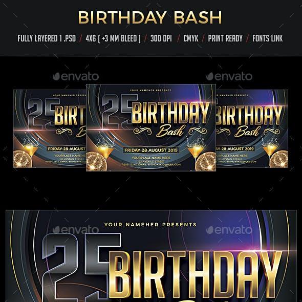 Birthday Bash Flyer