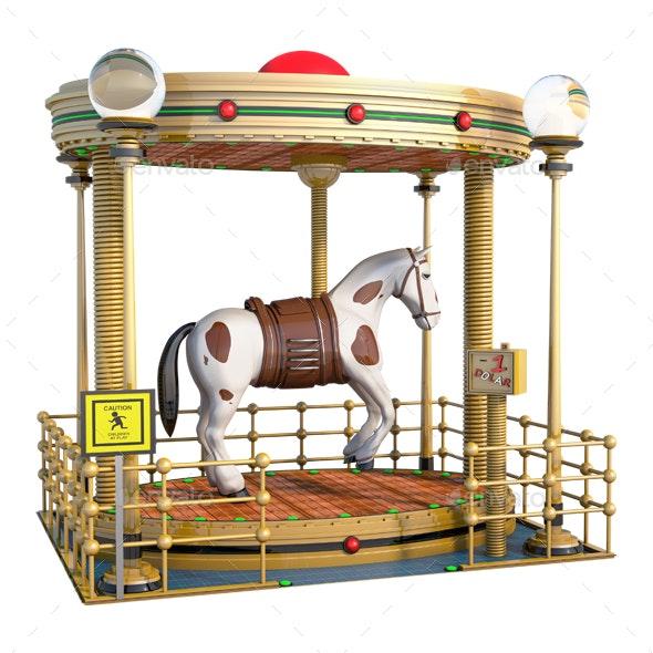 Fantasy Horse Fair Ride - Architecture 3D Renders