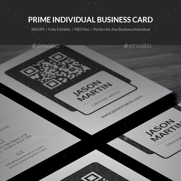 Prime Individual Business Card - 17