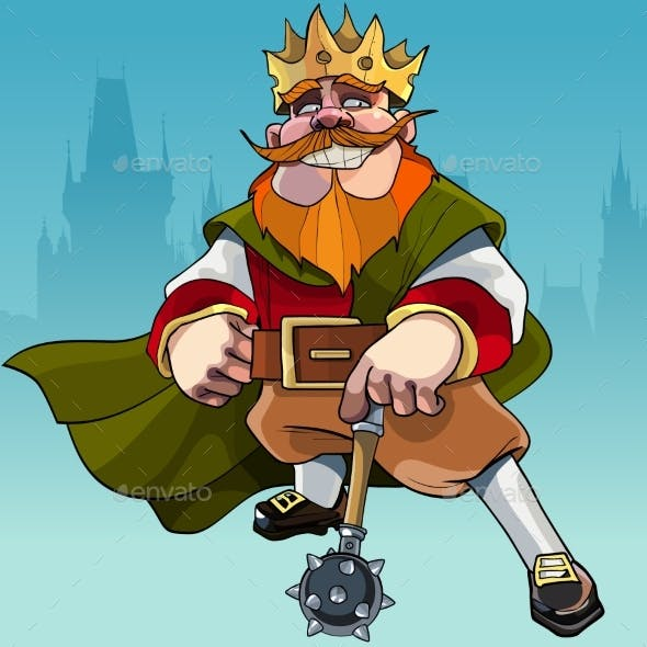 Cartoon King with a Mace
