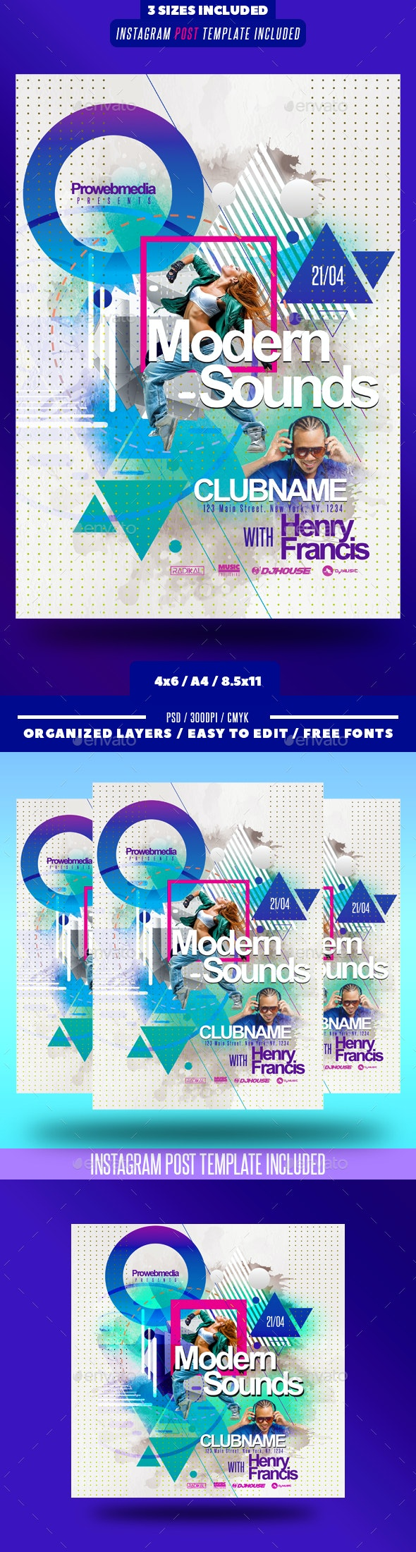 Abstract Modern Party Flyer - Clubs & Parties Events