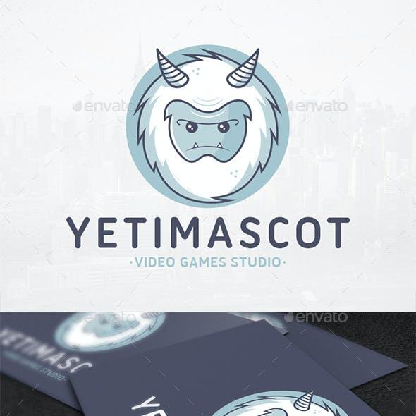 Yeti Mascot Logo Template