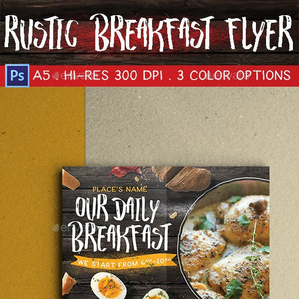 Rustic Breakfast Flyer