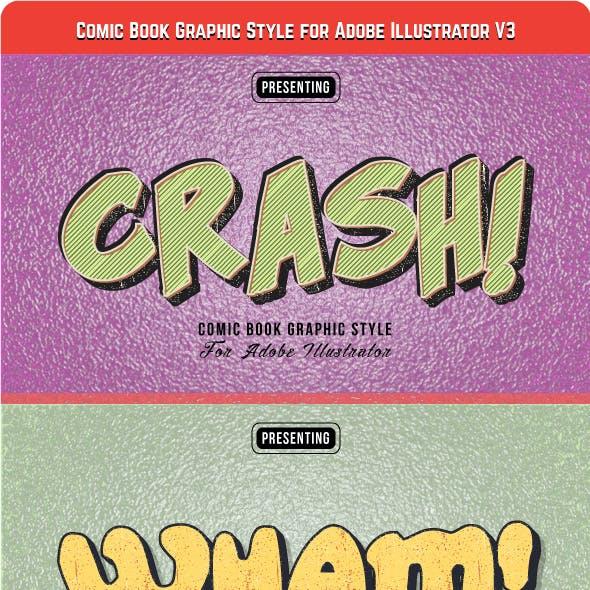 Comic Book Graphic Style for Adobe Illustrator V3