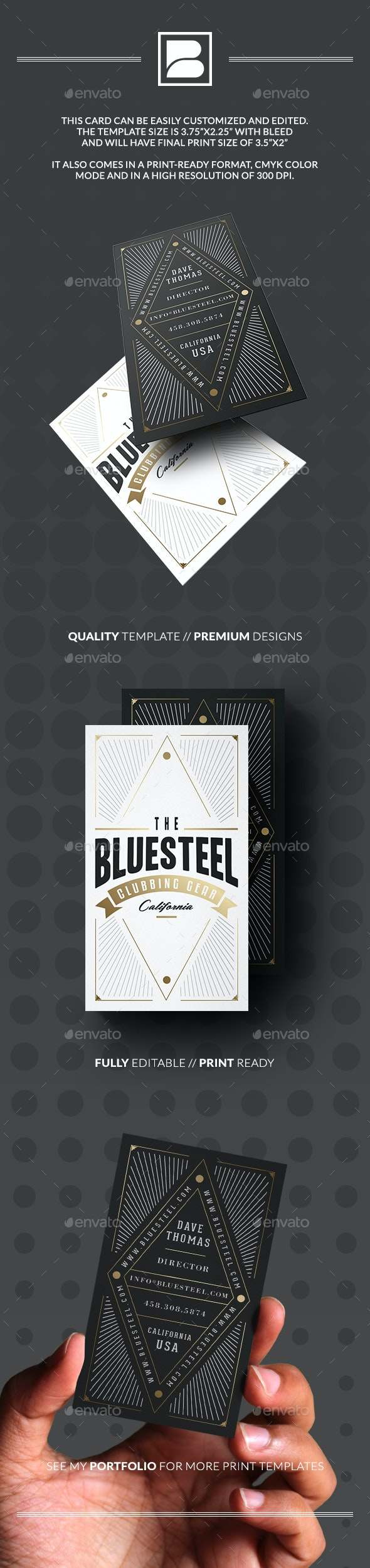 Retro Typography Business Card - Retro/Vintage Business Cards