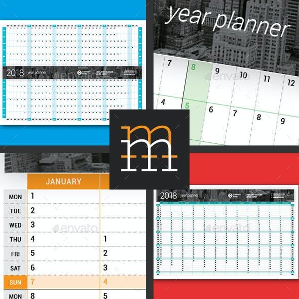 Year Planner 2018