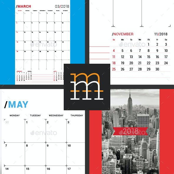 Monthly Planner 2018