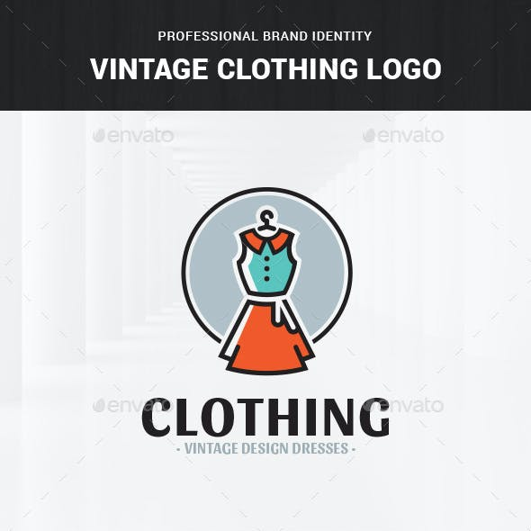 Vintage Clothing Logo Template