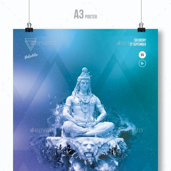 Shiva - Trance Party Flyer / Poster Template A3