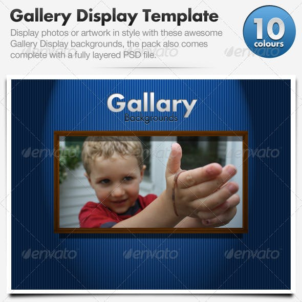 Gallery Frame Display Template x10