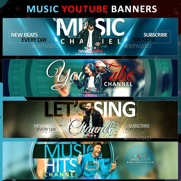 Youtube Banner Music Graphics Designs Templates