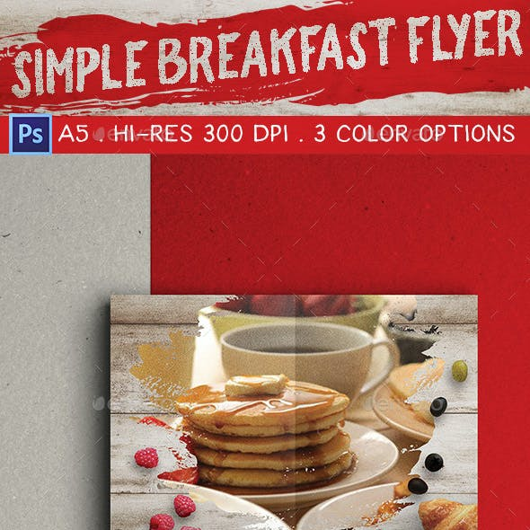 Simple Breakfast Flyer