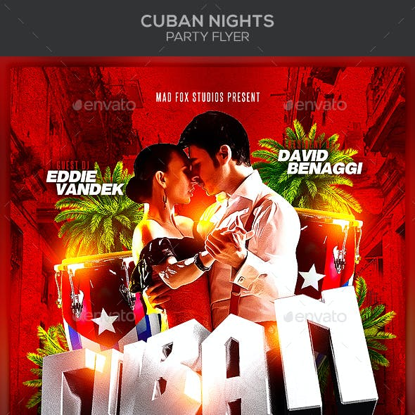 Cuban Nights Party Flyer