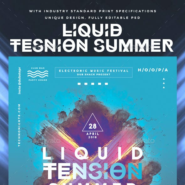 Liquid Tension Summer DJ Flyer