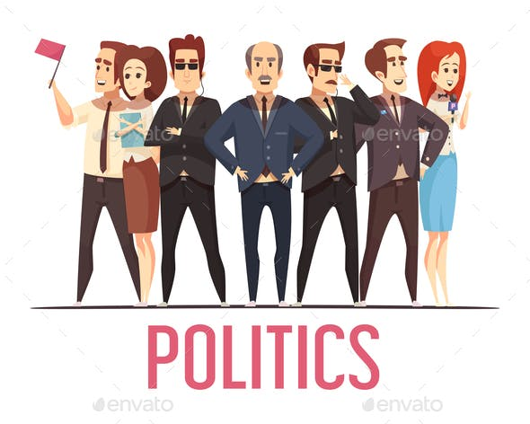 Politics Election People Cartoon Composition
