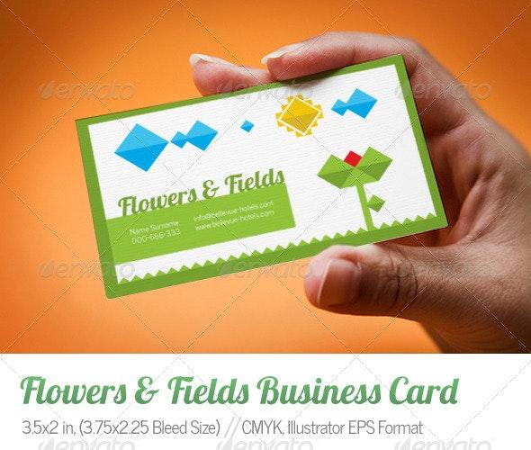 Flowers & Fields Business Card - Creative Business Cards