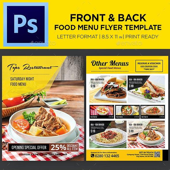 Restaurant Menu - Food Menu Flyer