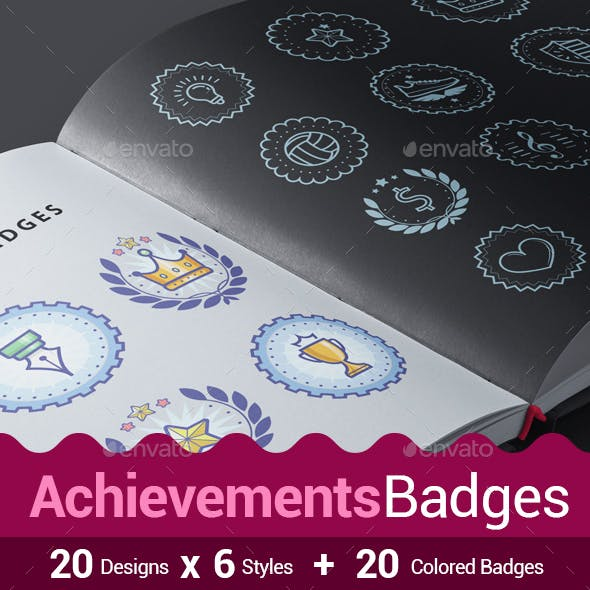 140 Achievements Badges