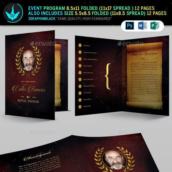 Royal Funeral Program Template