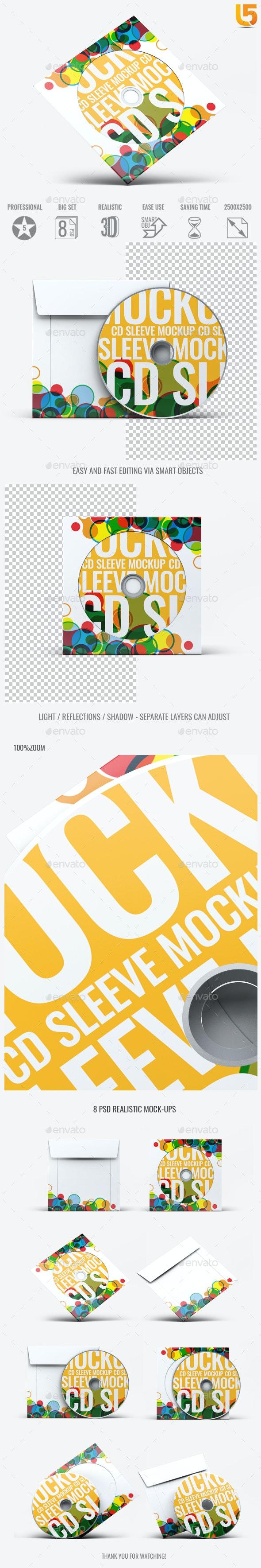 CD Sleeve Cover Mock-Up v.01 - Discs Packaging