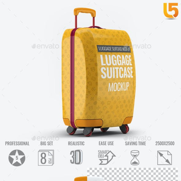 Luggage Suitcase Mock-up