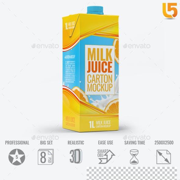 Milk or Juice Carton Mock-Up v.1