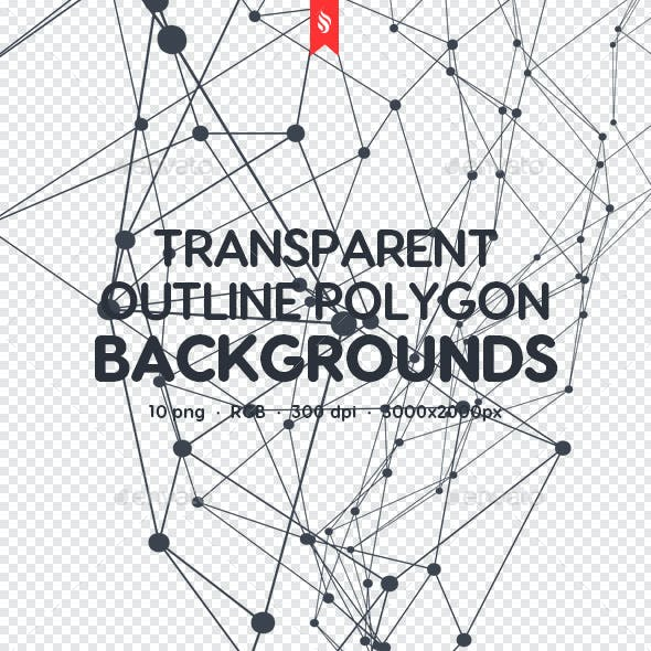 Transparent Outline Polygon Backgrounds