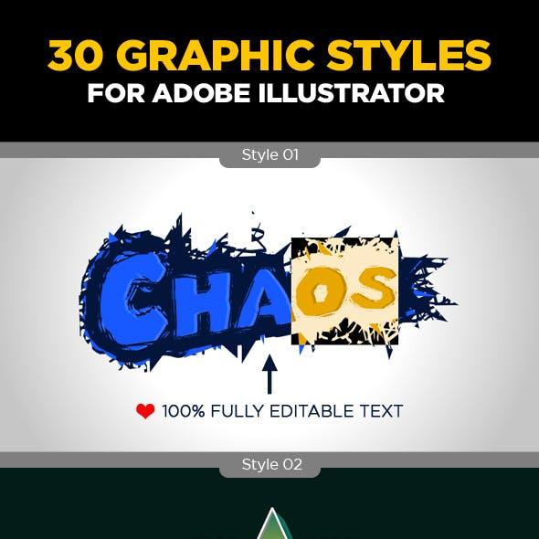 30 Illustrator's Graphic Styles