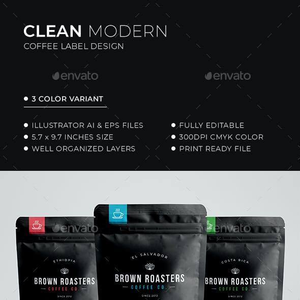 Coffee Label Design
