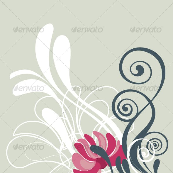 Floral background in vibrant beautiful shades