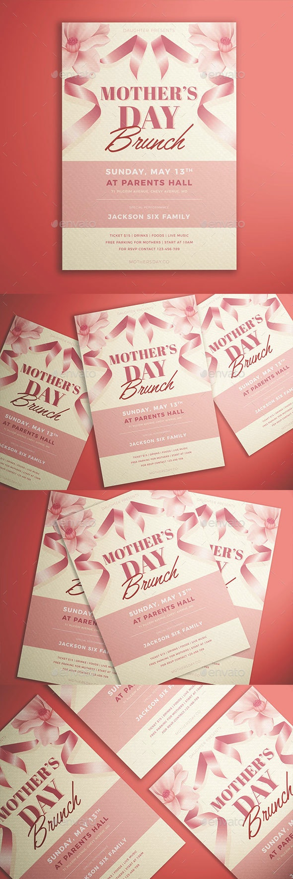 Mother's Day Brunch Flyer - Events Flyers