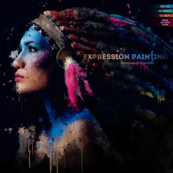 Expression Painting Photoshop Action