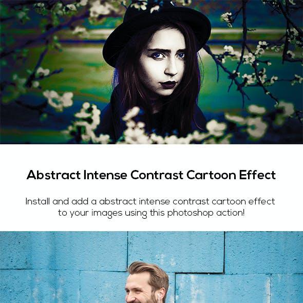 Abstract Intense Contrast Cartoon Effect