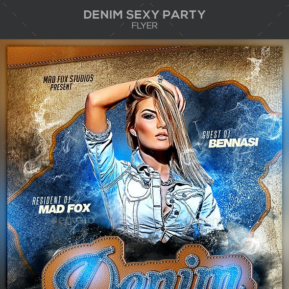 Denim Sexy Party Flyer
