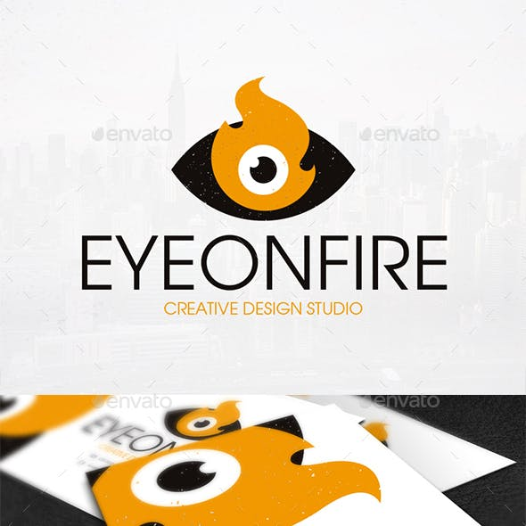 Eye on Fire Logo Template