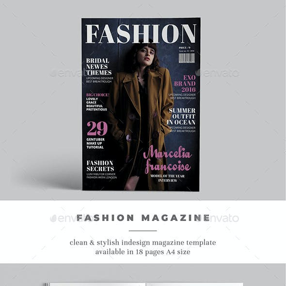 A4 InDesign Fashion Template