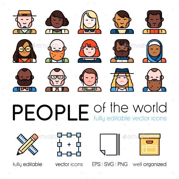 People of the world vector avatars